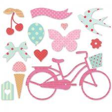 Sizzix Thinlits 14 Dies Set - Bike, Bird, Pennant, Cherries, Balloon, Butterfly