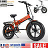 "ENGWE 20"" 500W Folding Electric Mountain Bicycle 48V Adults Fat Tire Snow E-Bike"