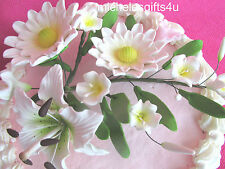 Sugar Gum Paste Shasta Daisies Lily Flowers for all Cake Icings & Fondants