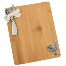 Kitchencraft Wooden Cheese Board Rooster Design With Matching Knife
