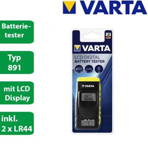 Varta Batterie Tester  LCD 891 - AA AAA Baby C Mono D 9V Knopfzellen - digital