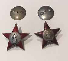 2 Pcs Rare Russian  Red Star Orders Pre WWII # 4 852 Collectible Military