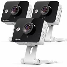 3 Pack of Zmodo 720p IP Indoor WiFi Security Cam 2-Way Audio Connect Wirelessly