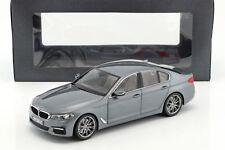 BMW 5er Series (G30) Limousine Construction Year 2017 Blue-Grey Metallic 1:18