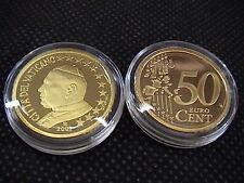 VATICANO 2002 moneta CENT 50 eurocent FONDO SPECCHIO PROOF FS PP BE in capsel