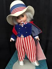 "Madame Alexander Doll 8"" UNCLE SAM #10353 Box Stand Tag International Series"