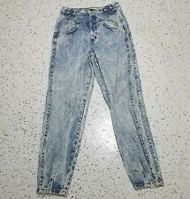 Vintage Chic Womens Denim Blue Jeans ~ Sz 14 Average ~ Relaxed Fit ~ Tapered Leg