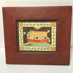 Signed Scherenschnitte Scissor Paper Cut Noahs Ark Sandra Gilpin 1988 Folk Art