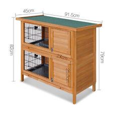 Chicken Coop Rabbit Hutch Guinea Pig Ferret Cage Hen Wooden House 2 Storey