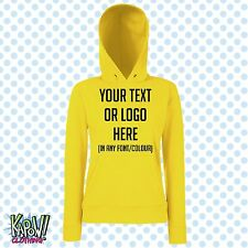 Custom Personalised Womens/Ladies Printed HOODIE Hen Party Gift-Your text/logo4