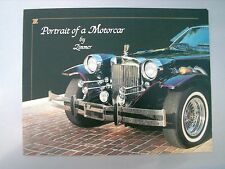 PORTRAIT OF A MOTORCAR BY ZIMMER BROCHURE IN ENGLISH RARE ITEM  good  condition