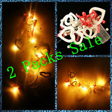 2 Packs of Love Hearts LED Fairy String Lights,Gift Wrap,Wedding,Valentine,Party