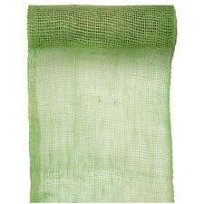 Tischläufer Jute 26cm x 5m grün Tischband Tischdeko Tischdecke Geschenkband