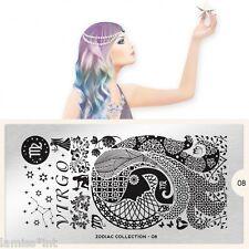 MoYou London Zodiac 8 Collection Stamping Schablone Virgo Sternzeichen ranke