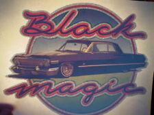 Black Magic Impala Lowrider 1970's Vintage Americana Iron On Transfer -Nice, B-3