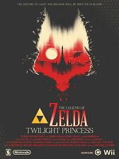 "115 The Legend of Zelda - Twilight Princess Hot Game Art 14""x19"" Poster"