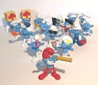 SMURF 2011 Peyo McDonald's Happy Meal Figures | Lot of 16 Toy Figurines