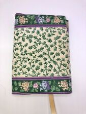 Vera Bradley Soft Book Cover LILAC TIME Rare 1997 Ribbon Book Mark 7.5
