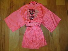 VICTORIA'S SECRET 2012 FASHION SHOW NYC PINK BLING SATIN ROBE WRAP KIMONO NWT