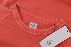 C.P. Company NWT Crew Neck Sweat Shirt Size L In Solid Orange Cotton