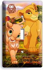 LION KING BABY SIMBA NALA LIGHT SINGLE SWITCH WALL PLATE INFANT NURSERY ROOM ART