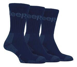 Mens Luxury Jeep Terrain Walking Work Hiking Socks Navy Size 6-11 Uk, 39-45 Eur