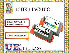10 Compatible Ink Cartridges  Canon Printers BCI-15bk BCI-15C