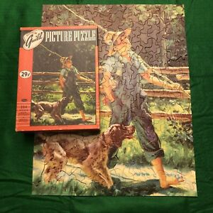 COMPLETE 304 Pieces Vintage Guild Picture Puzzle BOY AND HIS DOG Series No. 103