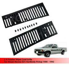 Finisher Wiper Cowl Vent Grille Set Use For Nissan Navara D21 Pickup 1986 - 1992