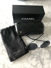 CHANEL CH 4206  C. 468/C0 55mm Round Dark Green Round Mirror Sunglasses