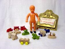 Schwenk Puppenstubenpuppe ohne Kleidung, ca. 12 cm, bewegliche Arme und Beine