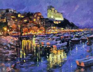 Lerici Liguria by Elena Bond (Fine Art on Canvas Painting)