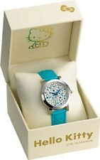Sanrio Hello Kitty Sparkle Splash Blu Gioielli Orologio Con Diamante Da Japan