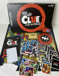 Clue Lost In Vegas- What Happened Last Night? Game Board Game Mystery-Complete