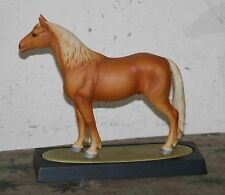 Andrea by Sadek Palomino Ceramic Horse. w/wooden stand. c.1985 M.I.Japan. 74174.