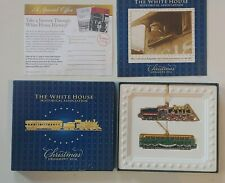 2014 Official White House Christmas Ornament Warren Harding Train Locomotive 2pc