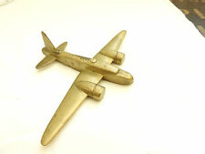 Military WWII Brass Trench Art Fighter Plane RAF Bomber, Metal Aeroplane (4907