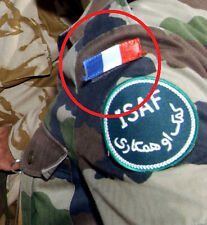 NATO ISAF JSOC FRENCH SP OPS PARATROOPER AFGHANISTAN INSIGNIA: 2 X Flag Tab 2008