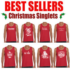 Christmas T Shirts Mens Xmas tee's Funny T shirt offensive Men's Singlets Tank