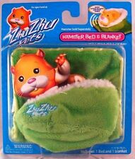 NEW Zhu Zhu Pets Hamster Accessory Kit Green Bed and Blanket