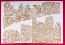 """HAP Grieshaber, """" week-end """" COULEUR GRAVURE SUR BOIS 1973 de """"wacholderengel """""""