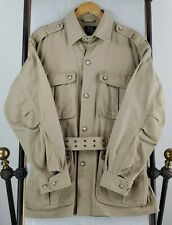 WILLIS & GEIGER Medium Mens Belted Roll Up Slv Safari Field Hunting Jacket Coat