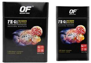 Ocean Free FH-G1 Pro RedSyn food pellets cichlid color accelerator flowerhorn