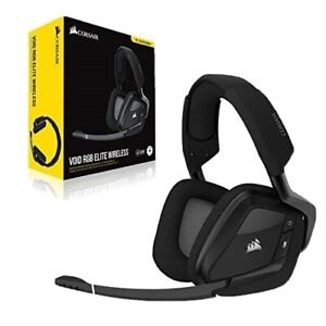 Corsair VOID RGB ELITE Wireless Premium Gaming Headset with 7.1 Surround Sound