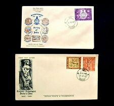 Two India FDC 'Survey of India 1961/67'  Poona Postmarks