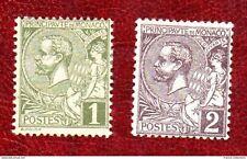 Timbres 1891-94 MONACO Albert I° N°11 & N°12 neufs *