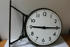 Rare antique lg very collectable double sided IWR Factory Clock for restoration