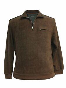 Sweat-Shirt Troyer mit Zip von Monte Carlo, rostbraun