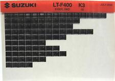 Suzuki LT-F400 Eiger 2WD 2003 Parts Catalog Microfiche s519
