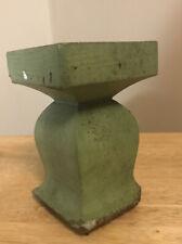 Vintage Wood Green Newel Salvaged Post Piece